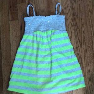 Justice strapless neon dress